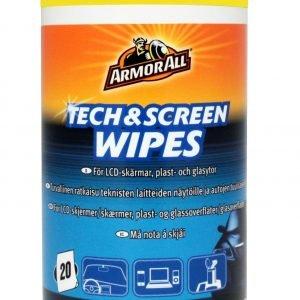 Armor All Tech&Screen Wipes Puhdistuspyyhe 20 Kpl