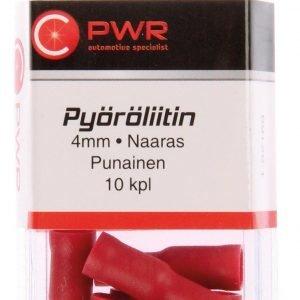 C-Pwr Pyöröliitin 4 Mm Naaras Punainen 10 Kpl