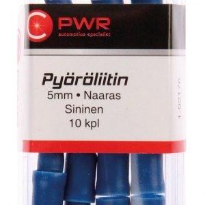 C-Pwr Pyöröliitin 5mm Naaras Sininen 10 Kpl