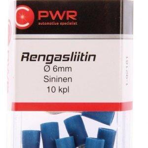 C-Pwr Rengasliitin M6 Sininen 10 Kpl
