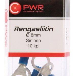 C-Pwr Rengasliitin M8 Sininen 10 Kpl