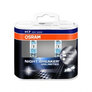 Osram H7 Night Breaker Unlimited Polttimo 2 Kpl