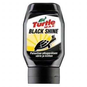 Turtle Wax Black Shine Mustien Muovipintojen Puhdistus Ja Kiillotus 300ml
